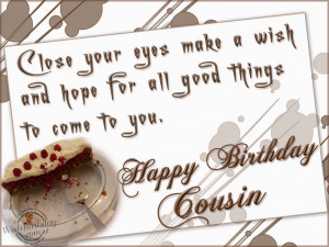 Birthday Wishes for Cousin - Birthday Cards, Greetings