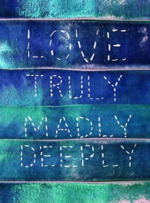 Truly Madly Deeply Quote Art Print | Pretty Things | Pinterest
