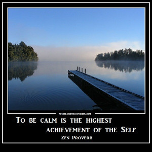 To be calm is the highest achievement of the self.
