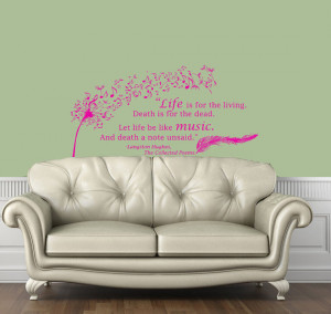 Wall Decals Quote Langston Hughes The Collected Poems Dandelion ...