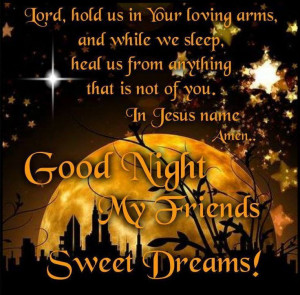 Good Night Blessings | Good Night Prayer