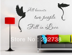 Free shipping letterring quotes vinyl wall stickers on the living room ...