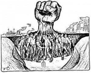 Political Cartoon- labor unions