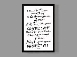 Taylor Swift Custom Poster - Shake It Off Lyrics - Quirky Modern ...