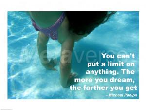 No Limits - Swimming Quote art print