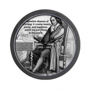Gifts > Living Room > Mathematics: Blaise Pascal Wall Clock