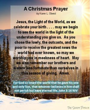 ii prayer for those who work on christmas day ii reflective christmas ...