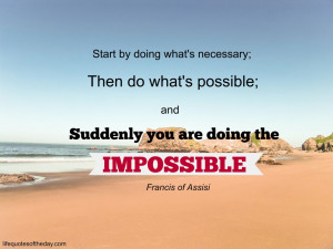 Francis of Assisi doing the impossible