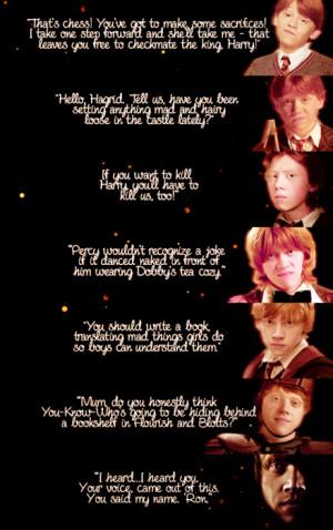 ... image include: harry potter, ron weasley, love, quotes and potterhead