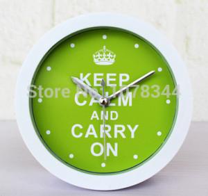 Green Purple Colorful Famous Quotes Letters Desk Clock Despertador ...