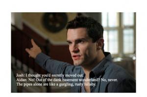 Being Human US. Syfy. Aidan quote.