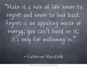 Katherine Mansfield}