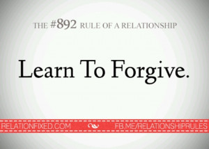 We should all learn to forgive