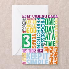 AA Anniversary 3 Years Greeting Cards for