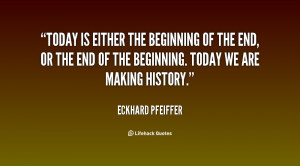 Today is either the beginning of the end, or the end of the beginning ...
