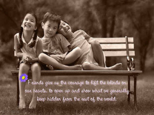 Friends and Friendship, Wallpapers with Quotes and Message