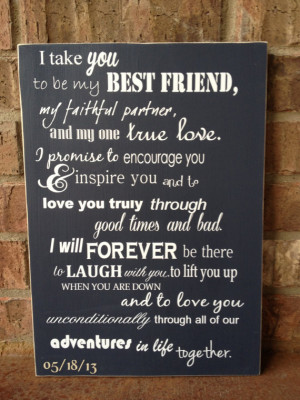 Take You To Be My Best Friend Wedding Sign - Perfect Shower or ...