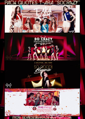 PACK QUOTES T-ARA 'SO CRAZY' / GIFT FOR MY FRIENDS by GenieDesigner