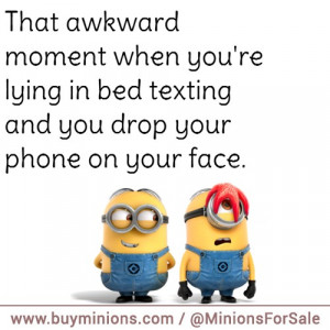 minions quote drop phone