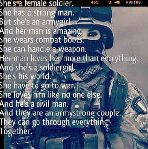 female soldier sayings