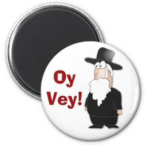 Funny Jewish rabbi - cool cartoon Refrigerator Magnet