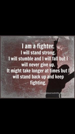 am a fighter