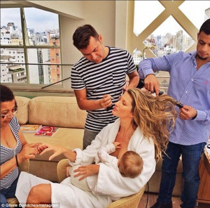 Causing controversy: Meanwhile, supermodel Gisele Bundchen was slammed ...