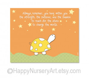 Nursery quote wall art print, turtle, stars, dreams, children decor ...
