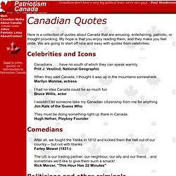 Codes. Canadian Quotes. Here is a collection of quotes about Canada ...