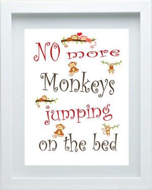 Monkey Nursery Decor Red Brown Nursery Art Quote Baby Bedroom Decor ...