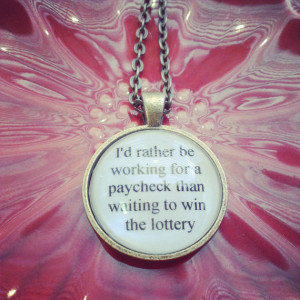 bright eyes lyric quote necklace- this is the first day of my life ...