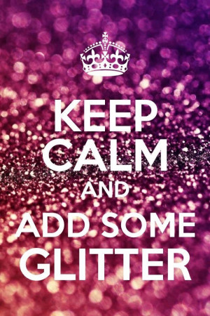 Glitter fixes everything :)