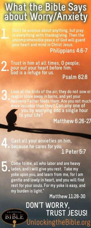 bible quotes about worry and anxiety