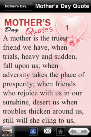 Download Best Mother`s Day Quotes iPhone iPad iOS