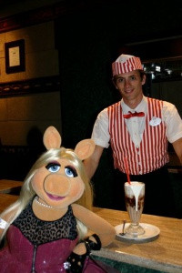 Brian serving at a Disney restaurant in Hollywood.