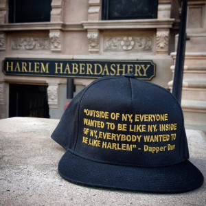 Dapper Dan Quote Snapback from Harlem Haberdashery