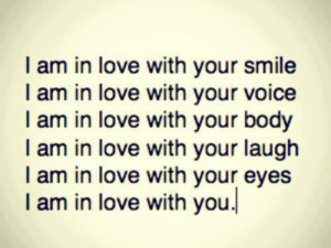 am in love with your smile ~ Being In Love Quote