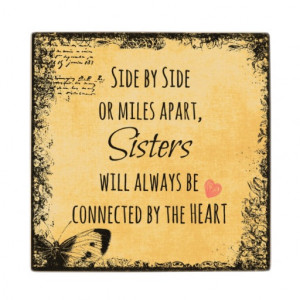 Inspirational Sister Quote Maple Wood Coaster