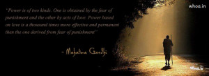 power is of two kinds gandhi quotes fb cover, indian freedom fighters ...
