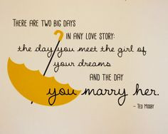 Yellow Umbrella Ted Mosby Quote (HIMYM), Unframed on Etsy, $9.99 More