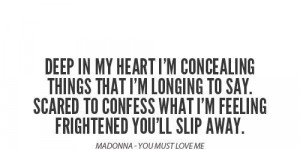 Madonna best quotes and sayings love heart