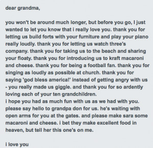 miss you i miss my grandma poems