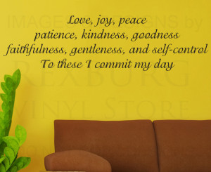 ... Quote Sticker Vinyl Large Love Joy Peace Patience God Religious(China