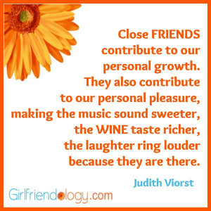 Friends and Wine Quote