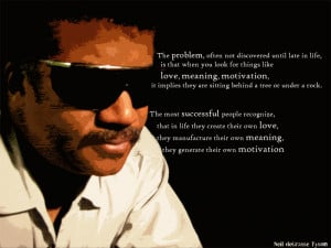 ... and badassery, than Neil deGrasse Tyson is the saint for you! Place