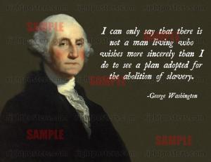 George Washington Abolition Poster