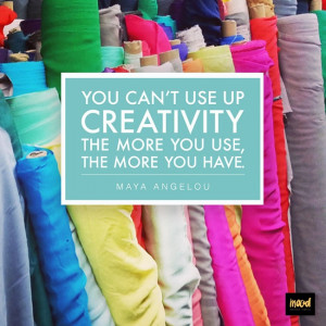 We love this creativity quote from Maya Angelou. #moodfabrics # ...