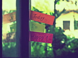 Today I'm happy!