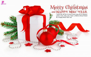 Christmas Gifts with Merry Xmas and Happy New Year Wishes with Quote ...