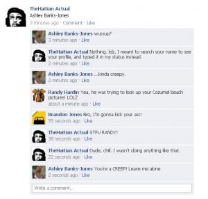 Facebook stalker post